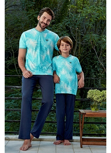Eros Pijama Takım Turkuaz